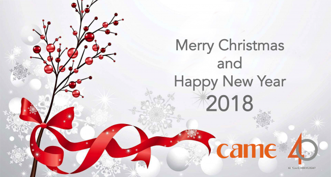 Came wishes you Merry Christmas and Happy New 2018! - Came Spa